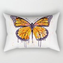 Monarch Butterfly watercolor Rectangular Pillow