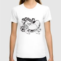 calvin hobbes T-shirts featuring Calvin and Hobbes line-work caricature design by Eric Goodwin