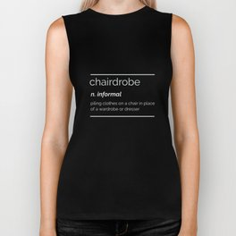 Chairdrobe Dictionary Definition Messy Room Funny  Biker Tank
