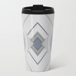 Classic Multi pattern White Grey Blue Design Travel Mug