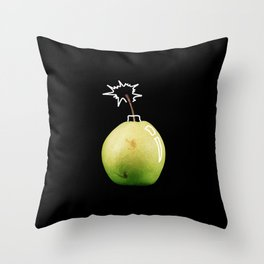 Pear Bomb Throw Pillow