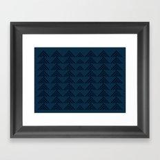 Tan Triangles Print Framed Art Print