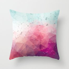 Abstract polygonal colourful background Throw Pillow
