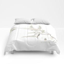 Port Jackson Shark Sketch Comforters