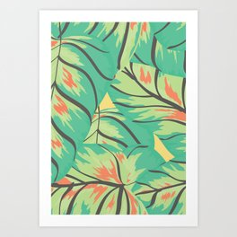 Candy Colored Monstera Art Print