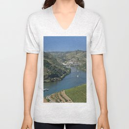 Pinhao village on the Douro, Portugal Unisex V-Neck