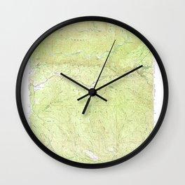 Jawbone Ridge, CA from 1947 Vintage Map - High Quality Wall Clock
