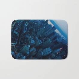 City of Blues - New York City Urban Cityscape Abstract Photograph Bath Mat
