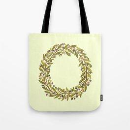 Leafy Letter O Tote Bag