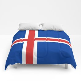 Flag of Iceland - High Quality Image Comforters