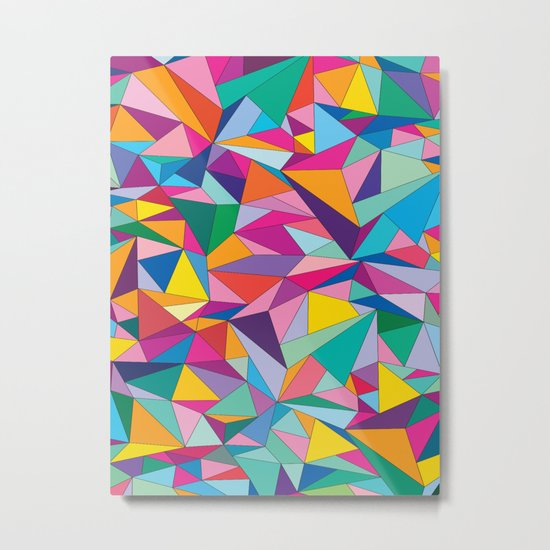 Triangles in color Metal Print