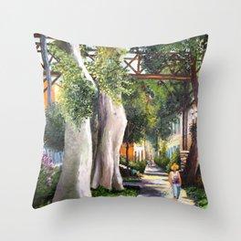 Bridge of sighs painting in Barranco - Lima, Peru #eclecticart Throw Pillow