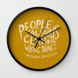HOLDEN CAULFIELD ON APPLAUSE Wall Clock
