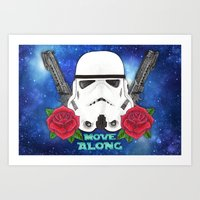 stormtrooper Art Prints featuring Stormtrooper by Larissa