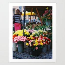 Blooms in Buckets Art Print