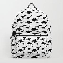 Tiled Pattern Dinos Backpack
