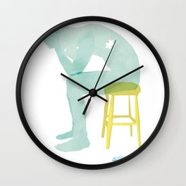 puzzle collage Wall Clock