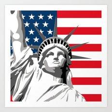 Pop Art Statue Of Liberty Art Print
