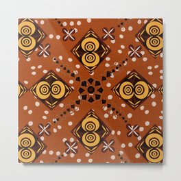 African Inspired (Diamonds and Eyes) Metal Print