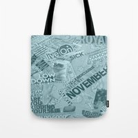 college Tote Bags featuring college  by MadCat
