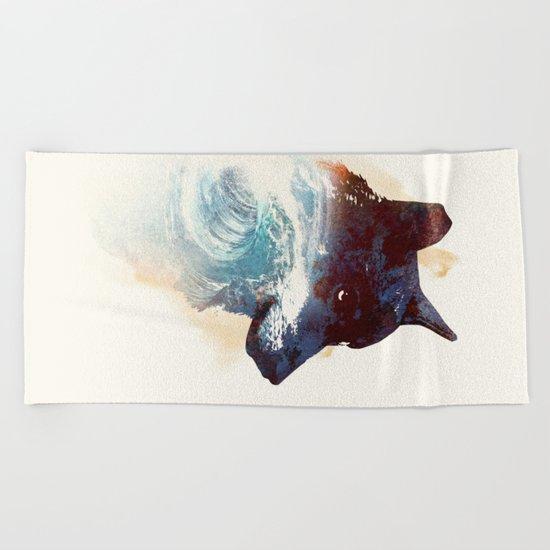 Night swim Beach Towel