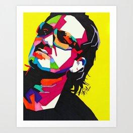 Bono (Yellow) Art Print