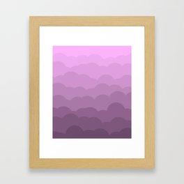 Lavender Ombre Clouds Framed Art Print