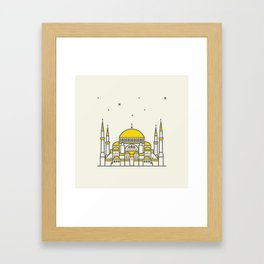 Hagia Sophia icon and vector. City travel landmark, tourist attractions in Istanbul Framed Art Print