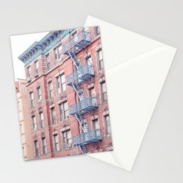 Greenwich Village Balconies - New York Architecture Photography Stationery Cards
