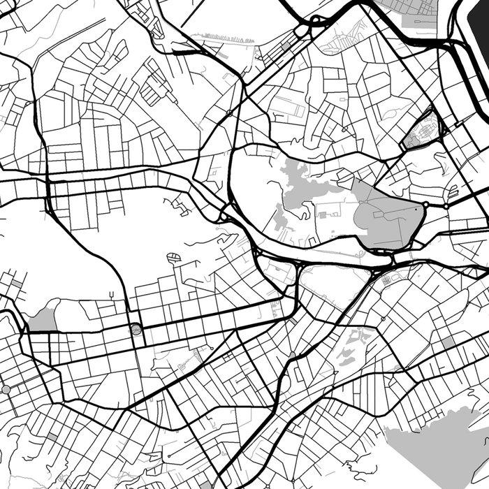 Rio de Janeiro City Map Gray Leggings