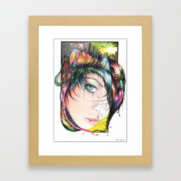 Mind Pollution Framed Art Print