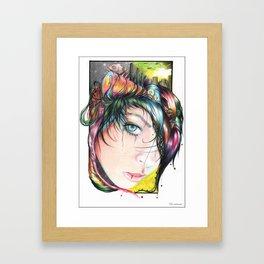 Mind Pollution Framed Art Print