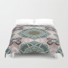 Peachy Sage Pattern Duvet Cover