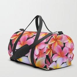 Pink Plumerias Duffle Bag