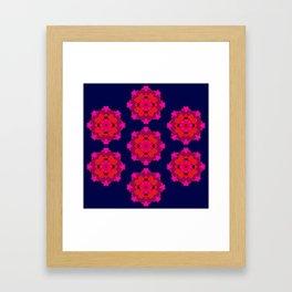 Retro Rose Framed Art Print