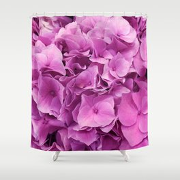 Bright Pink Flowers of Elegance and Love Shower Curtain