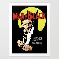 Man in Black Art Print