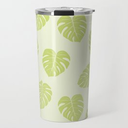 Monstera trendy - green Travel Mug