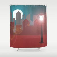skyline Shower Curtains featuring Skyline  by Pilar Andres
