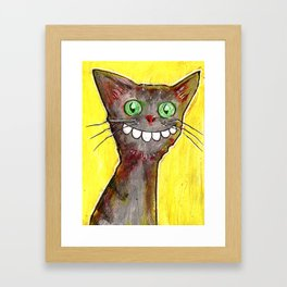 Derp Cat Framed Art Print
