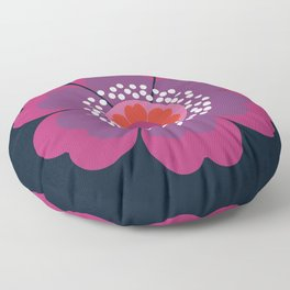 Stellar - minimal 70s style abstract floral flower art retro throwback 1970's vintage vibes Floor Pillow