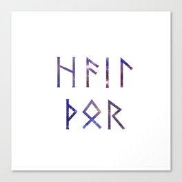 Hail Thor - Runes Canvas Print