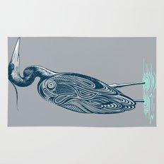 Bewitching blue heron Rug