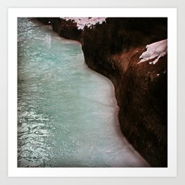 River Flow Art Print