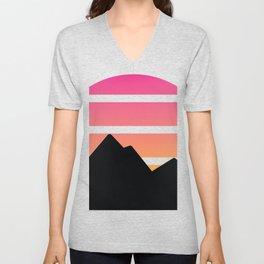 Mountain Sunset Unisex V-Neck