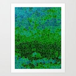 Mosaic Forest Art Print