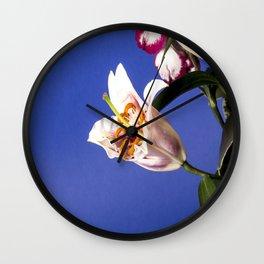 flowers Lillies Wall Clock