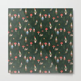 Woodland Gnomes Metal Print