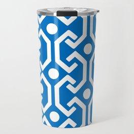 Ethnic Pattern (Blue) Travel Mug