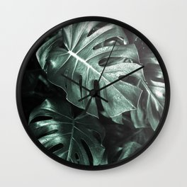 Monstera leaves, Palm Leaf Wall Clock